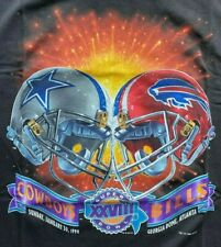 NFL Superbowl XXVIII TShirt Size XL Bills vs Cowboys  NEW-NEVER WORN w/Sticker