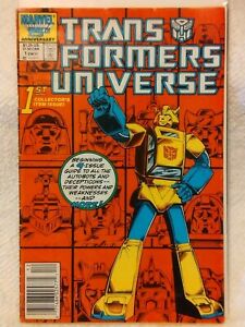 1986 Marvel G1 Transformers Universe 4x Issue Limited Series Set #1 #2 #3 & #4