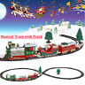 Christmas Electric LED Musical Train & Track Set Toys Kids Party Gift Xmas Decor