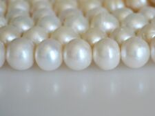 #18 LargeHole Extra Shiny PinkFreshwater Pearl Round//Potato10-11mm,Hole SZ 2mm