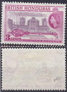 British Honduras 1953 3 Cents Sc-146a Mace and Legislative Council Chamber MLH