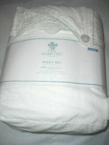 Simply Shabby Chic Full Sheet Set 100% Cotton White Prewashed