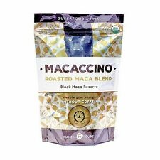 MACACCINO Organic BLACK MACA Coffee Alternative NO CAFFEINE ENERGY - 30 Serves