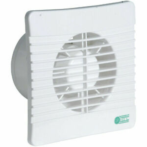 Bathroom Extractor Fan with Timer & Shutters Slimline Low Profile Airvent 431302