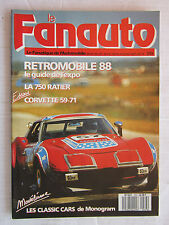 Le Fanatique de l'Automobile n°233/RETROMOB'88/STUDEBAKER'47-'54/LE RATIER 750