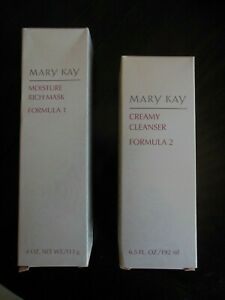 Mary Kay * Moisture Rich Mask Formula 1 & Creamy Cleanser Formula 2 * Free Ship.