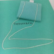 """Tiffany & Co 18"""" Sterling Silver Chain Necklace NEW"""