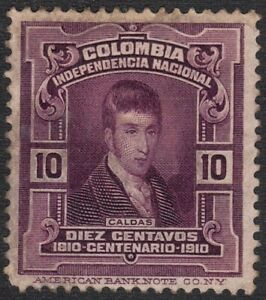 1910 Colombia SC# 335 - Colombia Independence Centenary - Jose de Caldas - M-H