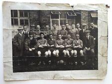Large Vintage Photo -  Football Team - Templeman - Stoke On Trent