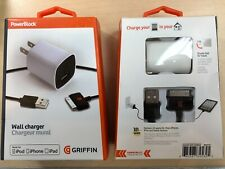 Griffin PowerBlock 10W Wall Charger w/ 30Pin Cable for iPad 1,2,3 iPhone 3,4