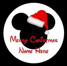 48 Personnalisé Disney Noël autocollants pour les colis et présente Santa étiquettes