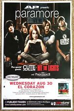 PARAMORE 2006 Gig POSTER Seattle Washington Concert Hayley Williams