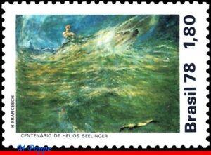 "1567 BRAZIL 1978 PAINTING ""STORMY SEA"" BY SEELINGER, ART MI# 1661 RHM C-1045 MNH"