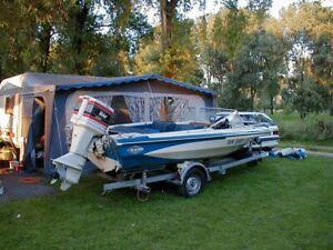 Bastlerboot Glastron V166 mit Motor und Trailer