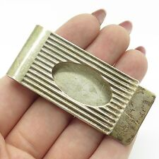 Vtg Italy 925 Sterling Silver Classic Large Money Clip