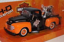 Ford F1 Pickup 1948 + Harley FHL Duo Glide 1958 1:24 Maisto neu + OVP 32180