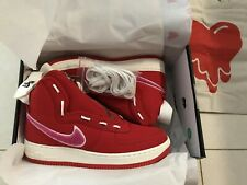 buy popular a3e81 7f743 Nike Emotionally Unavailable Air Force 1 Zipped Canvas Red Men's 9 w/ Nike  Tote