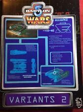 Babylon 5 Wars: Variants 2 - Agents of Gaming - BW-158 - NEW