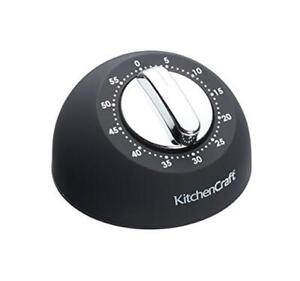 Kitchencraft Mechanical Timer Alarm Ring Loud Baking Cooking Home Kitchen 1 Hour