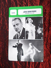 JOHN BARRYMORE- MOVIE STAR - FILM TRADE CARD - FRENCH- #1