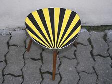 DDR Nierentisch Strahlen Blumenhocker Strahlentisch Beistelltisch schwarz gelb