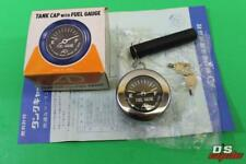 NOS AD Asahi Denso Tank Cap w/ Fuel Gauge & Key Set 40mm Honda CS90 CD125 & More