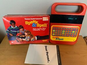 Vintage 1986 Texas Instruments SPEAK & SPELL with Box Tested And Works B4