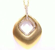 Designer 14K Gold Natural Fancy Cut Diamond Vintage .30CT Engagement Necklace