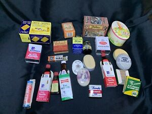 Vintage Antique Lot of Spices Cooking Tins Advertising Sizes & Shapes B