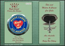 Royale Classic Car Grill Badge + Fittings - WIGAN CASINO HEART OF SOUL - B2.0624