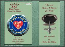 Royale Classic Car Grill Badge + Fittings - WIGAN CASINO HEART OF SOUL - B2.0624