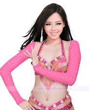 Women Belly Dance Diamond Shrug Arm Gloves Armbands Rhinestone Sleeves 11 colors