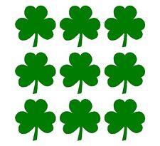 "Irish Shamrock 1"" Decals Vinyl Green Clover Small Phone Laptop Helmet Stickers"