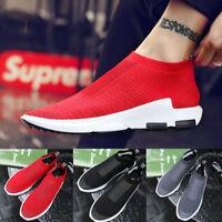 Men's Mesh Breathable Sneakers Slip On Lightweight Running Outdoor Walking Shoes