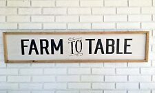 Farm To Table, Framed Wood Sign, Farm To Table Sign, Farm To Fork, Rustic Wood