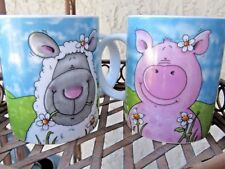 2 Simple Dining Coffee Mugs One Spring Lamb One Spring Pig