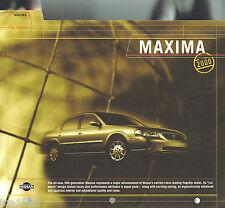 2000 Nissan MAXIMA Press Kit + Photos for ? Brochure: SE, GLE, '00