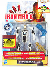 Marvel IRON MAN 3 Personaggio #06 STARBOOST IRONMAN by Hasbro 10cm Nuovo