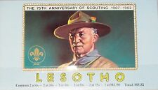 LESOTHO 1982 MH 367-72 361a Booklet Boy Scouts Pfadfinder Jamboree Map Camp MNH