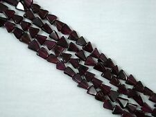 Gemstone Beads Garnet Triangle Beads 35cm Strand Jewellery FREE POSTAGE