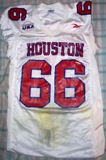 BEN FRICKE (Houston Cougars) #66 Game Used/Worn JERSEY (Size M.)