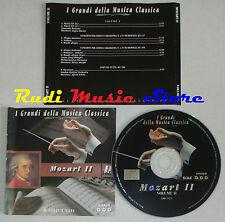 CD MOZART 2 II 2000 GRANDI DELLA MUSICA CLASSICA Duvier adolph scholz lp mc dvd