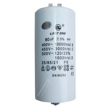 Condo / Condensateur Permanent pour Démarrage Moteur  80MF 80µF 80UF 450V 5%