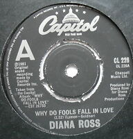 "DIANA ROSS - Why Do Fools Fall In Love - Excellent Con 7"" Single Capitol CL 226"