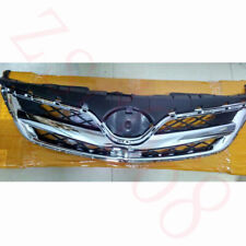 1x For Toyota Corolla 2010-13 Car Front Chrome ABS Upper Grille Grid Cover Frame