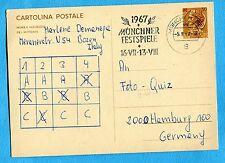 £.30 (C167) partita da BOLZANO con bollo di MONACO diretta ad AMBURGO  (243962)
