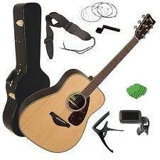 Yamaha FG830 Acoustic Guitar - Natural STAGE ESSENTIALS BUNDLE