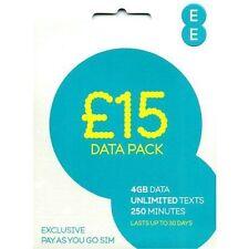 £15 EE DATA PACK SIM CARD