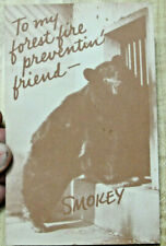 1957 TO MY FOREST FIRE PREVENTIN' FRIEND POSTCARD TRUE STORY OF SMOKEY THE BEAR