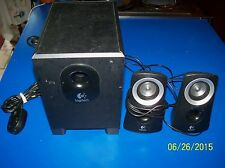 VINTAGE Logitech Z-313 POWERED SUB-WOOFER/SPEAKER SYSTEM EXC- w/remote